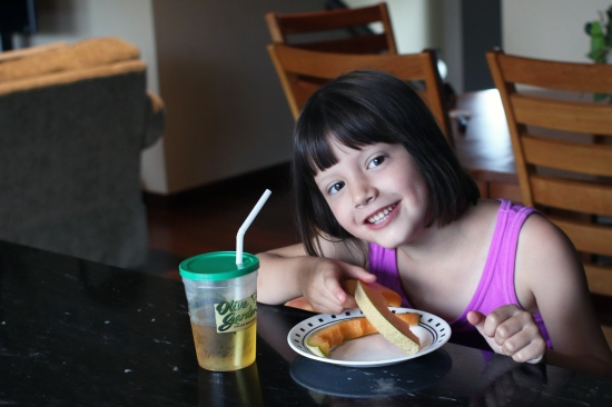 2014 Hannah eating August