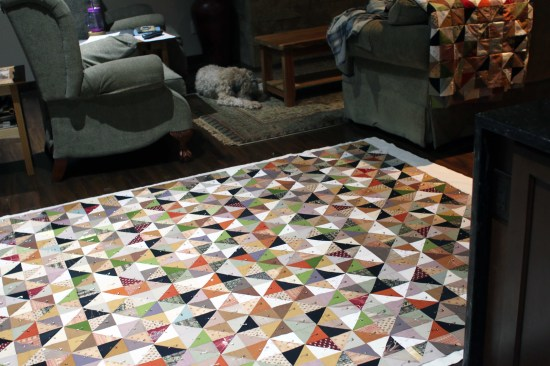 2014 quilt layers pinned